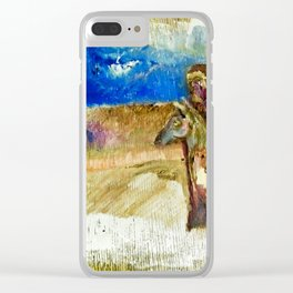 Some Guy And A Horse by Valdimir Karabegov Clear iPhone Case