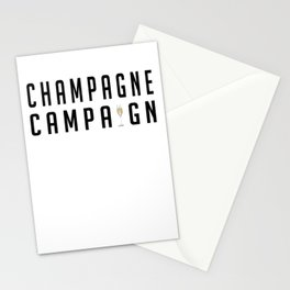 Champagne Campaign Stationery Cards