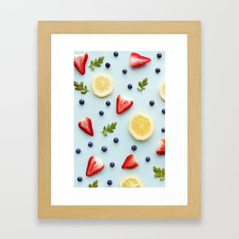 Strawberry Lemonade Framed Art Print