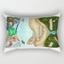 Ten of Cups (Amanda Palmer tarot deck) Rectangular Pillow