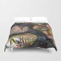 patrick Duvet Covers featuring patrick by rAr : Art by Robyn Ashley Rosner