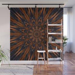 Energizing bronze mandala Wall Mural
