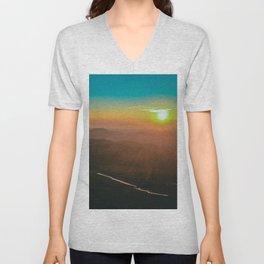 Mountain Sunrise Unisex V-Neck
