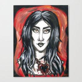 Black Hearts Canvas Print
