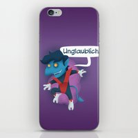 nightcrawler iPhone & iPod Skins featuring Little Nightcrawler by Alex Santaló