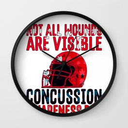 Concussion Awareness Not All Wounds Visible Head Trauma Wall Clock