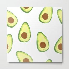 Watercolor Avocado pattern Metal Print