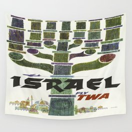 Vintage poster - Israel Wall Tapestry
