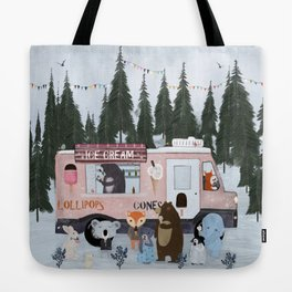 ice cream time Tote Bag