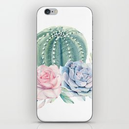 Cactus Rose Succulents iPhone Skin