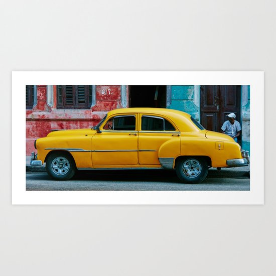 Yellow Car 3 Art Print