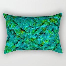 Vitrage (Turquoise) Rectangular Pillow
