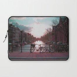 Biking in Amsterdam Laptop Sleeve