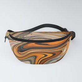 Orange black marble pattern Fanny Pack