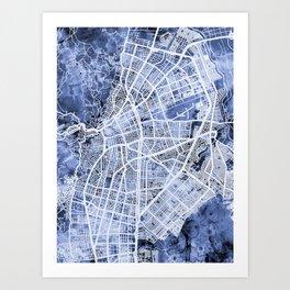 Cali Colombia City Map Art Print