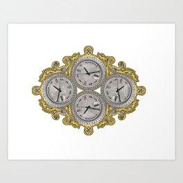 IV O'Clocks Art Print