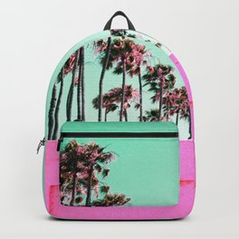 Queen Palms Color Block Backpack