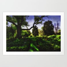 A Walk in the Garden Art Print