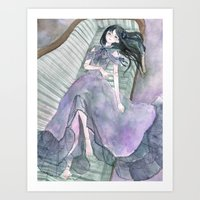doll Art Prints featuring doll by acca