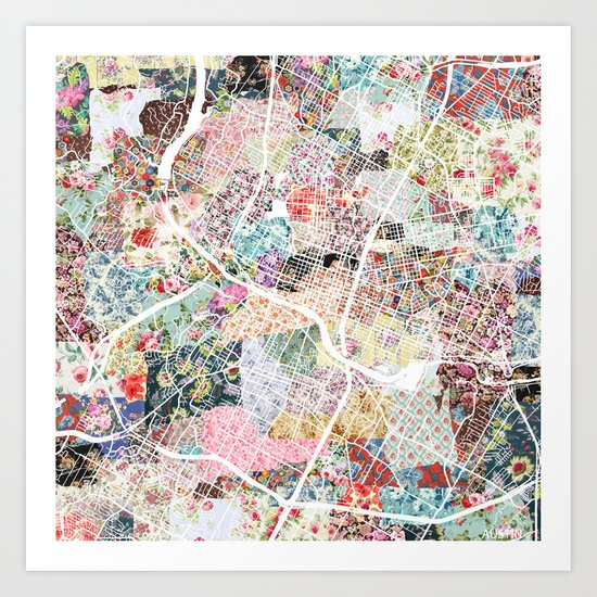Austin map by poeticmaps