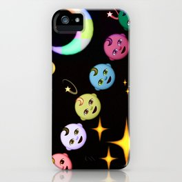 Alien Moon Rainbow Baby iPhone Case