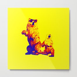 Ours Republique yellow Metal Print