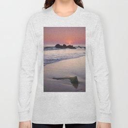 Encendida Beach At Sunset. Sancti Petri. Long Sleeve T-shirt