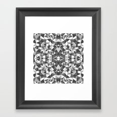 Abstract Colide Black and White Framed Art Print