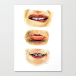 Lips with emotions Canvas Print