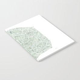 Milan Italy watercolor map Notebook