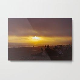 California Beach Sunset Metal Print