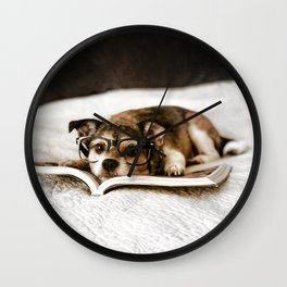 Nerd Dog Wall Clock