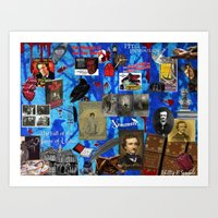 edgar allen poe Art Prints featuring Edgar Allen Poe by Phillip J. Speciale