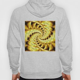 Smoky spiral stairs to floral centre Hoody