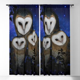 Owl Family Blackout Curtain