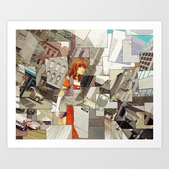 Time Montage Art Print