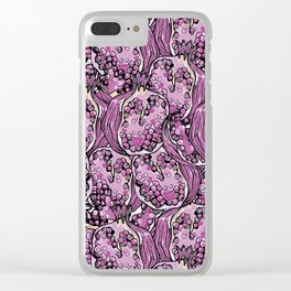 Pomegranate violet fresh seamless pattern! Clear iPhone Case