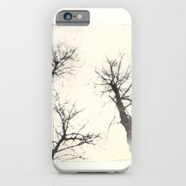 Emulsion Lift 3- Three Ghostly Trees iPhone Case