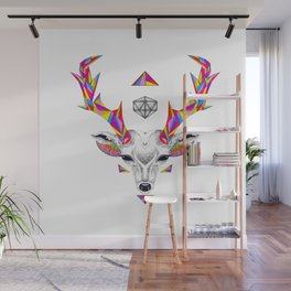 Geometric Deer Head & D20 Wall Mural