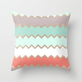 AVALON CORAL MINT Throw Pillow