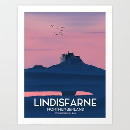 Lindisfarne, Northumberland Art Print