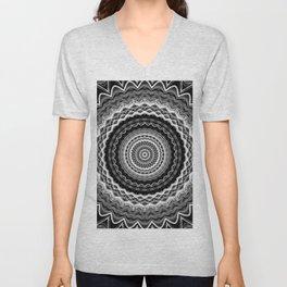 Black and White Mandala Unisex V-Neck