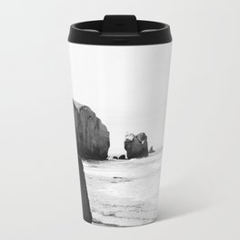 Black and White Dunedin beach - New Zealand Travel Mug