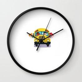 Bus Boss School Bus Driver Monitor T-Shirt Wall Clock