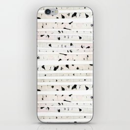 birch watercolor pattern 2018 iPhone Skin