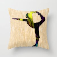 fitness Throw Pillows featuring Fitness by marvinblaine