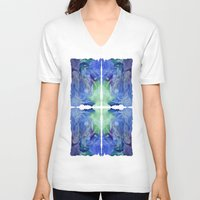 medusa V-neck T-shirts featuring medusa by sandalia