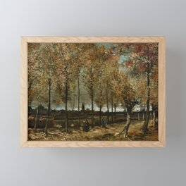 Vincent Van Gogh Poplars Near Nuenen Framed Mini Art Print