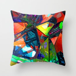 Jagged Little Morning Throw Pillow