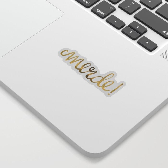 Pardon My French – Gold Ink Sticker